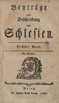 Beyträge zur Beschreibung von Schlesien Bd.6 1786
