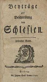 Beyträge zur Beschreibung von Schlesien Bd.10 1791