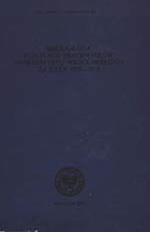 Bibliografia Publikacji Pracowników Uniwersytetu Wrocławskiego za lata 1978-1979