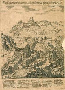 Eigentlicher Abriss und Entwerffung dess vortrefflichen weit berühmbten Keysers Carols badt wie dasselbige eigentlichzwischen vielen hohen grossen Bergen [...] ligen thut [...]