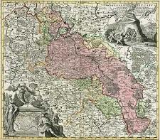 Silesiae Ducatus tam superior quam inferior, juxta suos XVII Minores Principatus et VI Libera Dominia disterminat. Nova mappa geographica [...] et sumtibus Matth. Seutteri [...]