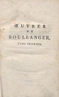 Oeuvres de Boullanger [...]. T.1