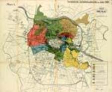 Plan von Breslau. Vorstädtische Jurisdictionsbezirke im Jahre 1808