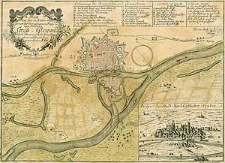 Plan von der in Nieder-Schlesien an der Oder gelegenen Pass-und Festung Gross Glogau nach ihrer eigentlichen Situation und Grund-Lage verzeichnet von H.F.B.