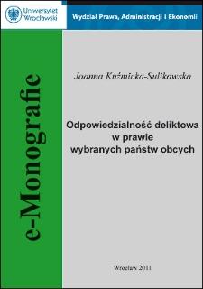 Odpowiedzialność deliktowa w prawie wybranych państw obcych - Podsumowanie, wykaz literatury