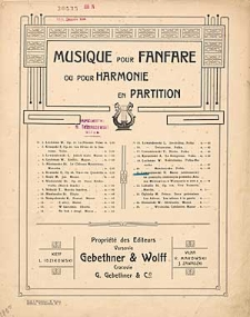 Marsz jubileuszowy na pamiątkę odsłonięcia pomnika Adama Mickiewicza w Warszawie w 1898 r. [z cyklu:] Musique pour Fanfare ou pour Harmonie en Partition : no. 21