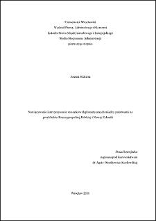 Nawiązywanie i utrzymywanie stosunków dyplomatycznych między państwami na przykładzie Rzeczypospolitej Polskiej i Nowej Zelandii - Zakończenie