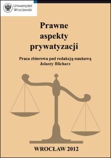 Rola kapitałowych spółek prawa handlowego w procesie prywatyzacyjnym w sferze gospodarki komunalnej