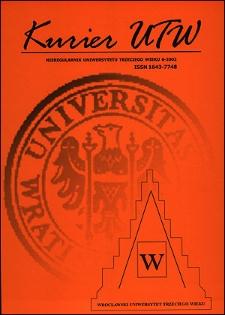 Kurier UTW: nieregularnik Uniwersytetu Trzeciego Wieku Nr 6 2002