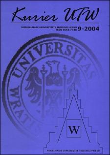 Kurier UTW: nieregularnik Uniwersytetu Trzeciego Wieku Nr 9 2004
