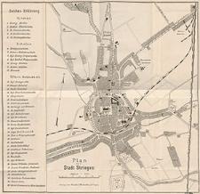 Plan der Stadt Striegau