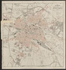Neuster Taschenplan von Breslau und seiner Umgebung