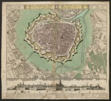 Die Kays. Residenz-u. Haubt Stadt Wien nebst den Vorstaetten in einem accuraten Plan u. Prospect entworfen u. edirt v. H. E.