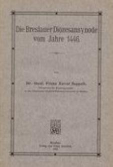Die Breslauer Diözesansynode vom Jahre 1446