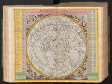 Hemisphaerium coeli australe in quo loca Stellarum fixarum secundum Aequatorem, per Ascensiones nempe rectas et Declinationes ad annum Christi 1730 completum sistuntur
