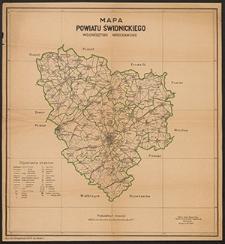 Mapa powiatu świdnickiego : woj. wrocławskie
