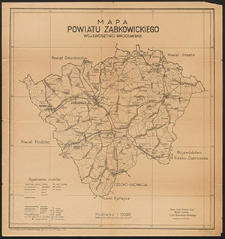Mapa powiatu ząbkowickiego : województwo wrocławskie