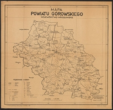 Mapa powiatu górowskiego : województwo wrocławskie