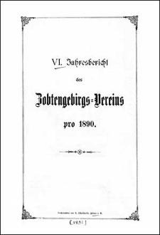 Jahresbericht des Zobtengebirgs-Vereins pro 1890
