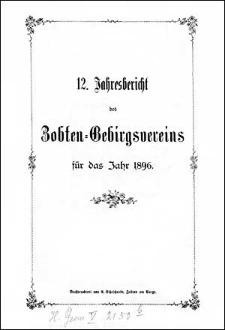 Jahresbericht des Zobten-Gebirgsvereins für das Jahr 1896