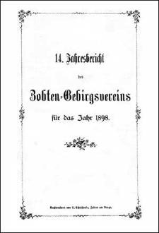 Jahresbericht des Zobten-Gebirgsvereins für das Jahr 1898