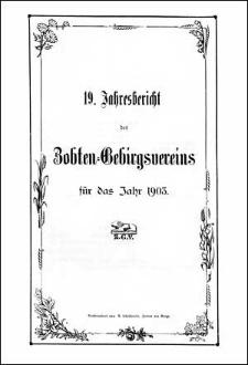 Jahresbericht des Zobten-Gebirgsvereins für das Jahr 1903