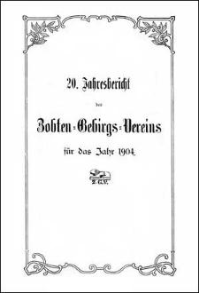 Jahresbericht des Zobten-Gebirgs-Vereins für das Jahr 1904