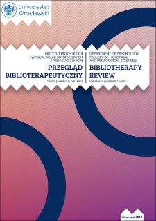Bibliotherapy Review 2014, vol. IV, no. 1
