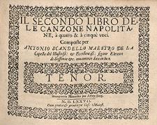 Il secondo libro dele canzone napolitane a quatro & à cinque voci [...] / Tenor