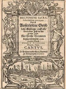 Melpomene sacra, Festis fidelium nuncupata [...] Cantus