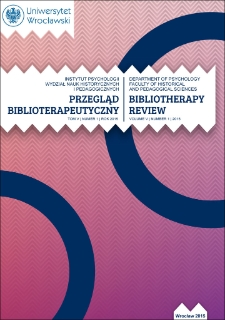 Bibliotherapy Review 2015, vol. V, no. 1