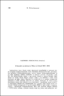 O kwestii narodowej w Polsce w latach 1918-1939