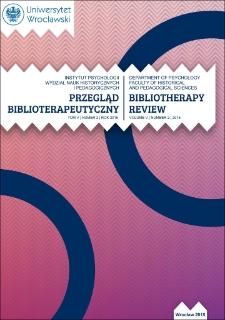 Bibliotherapy Review 2015, vol. V, no. 2