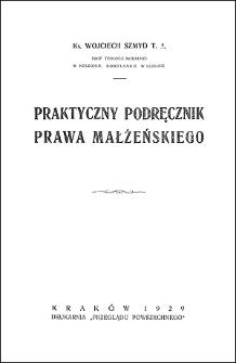 Praktyczny podręcznik prawa małżeńskiego