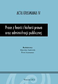 Prace z teorii i historii prawa oraz administracji publicznej