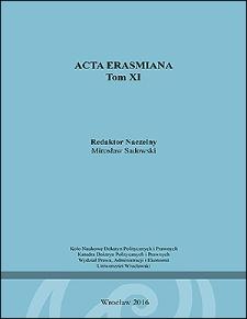 Acta Erasmiana. 2016, 11