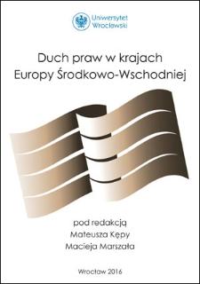 Duch praw w krajach Europy Środkowo-Wschodniej