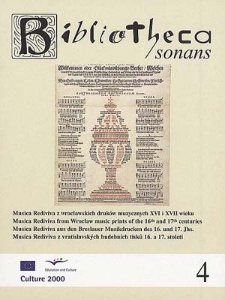 Musica Rediviva from Wrocław music prints of the 16th and 17th centuries.