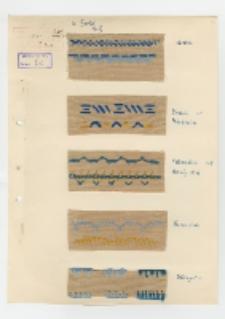 Wzory ściegów hafciarskich i szwów krawieckich