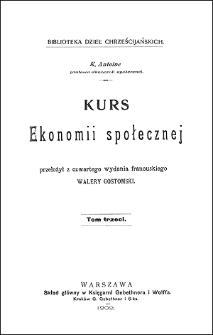 Kurs ekonomii społecznej. T. 3