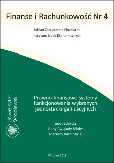 Legal financial systems of functioning selected organizational units