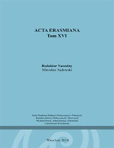 Acta Erasmiana. 2018, 16