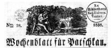 Wochenblatt für Patschkau 1838-07-09 Jg.1 Nr 28