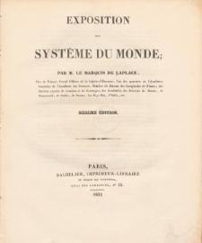 Exposition du systéme du monde