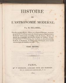 Histoire de L'Astronomie Moderne. T. 2