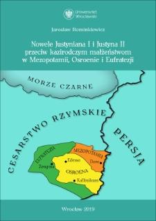 Nowele Justyniana I i Justyna II przeciw kazirodczym małżeństwom w Mezopotamii, Osroenie i Eufratezji