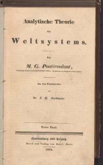 Analytische Theorie des Weltsystems