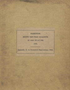 Second ten-year catalogue of 6892 stars for the epoch 1890.0