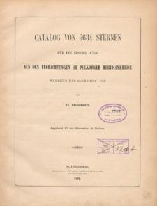 Catalog von 5634 Sternen für die Epoche 1875.0